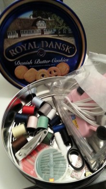 Cookie Tin Sewing Kit