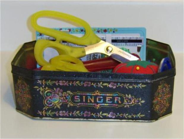 Tin Box Sewing Kit