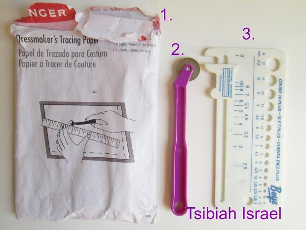 Dressmaking Paper and Knitting gauge