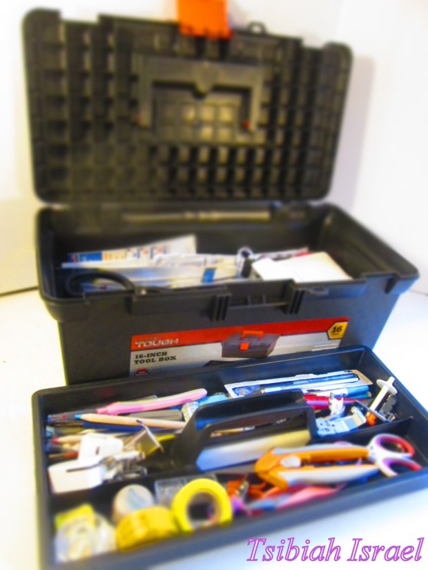 Tool Box Sewing Kit With A Tray
