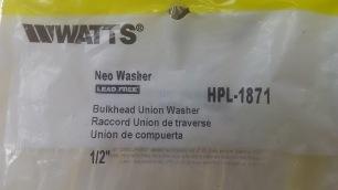 Bulk Head Union Neo Washer