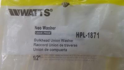 Bulk Head Union Neo Washer