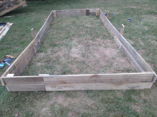 Raised Bed D.I.Y out of plank of wood